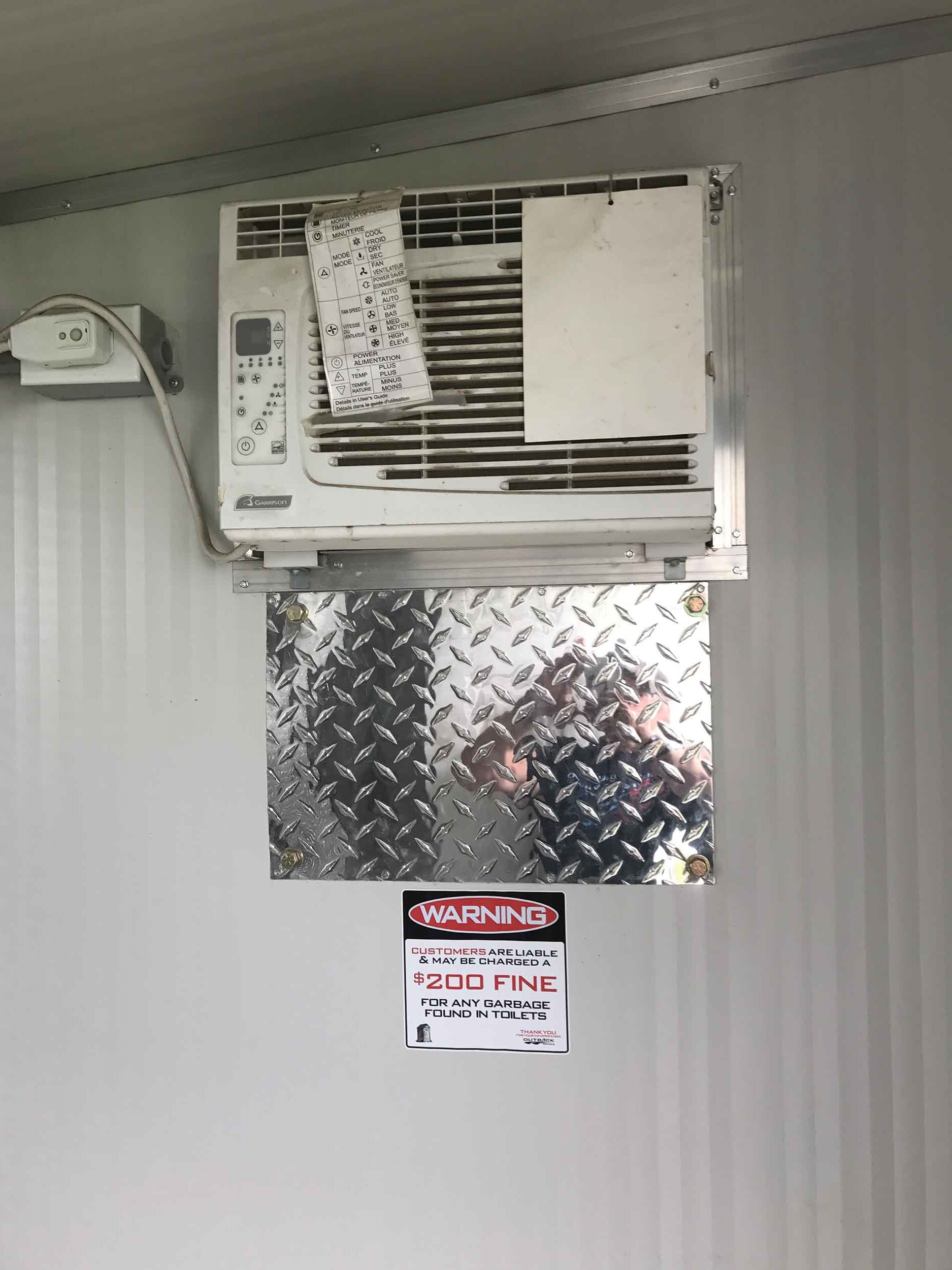Air Conditioning Unit on Executive Portable Toilet by Steelhead VEntures